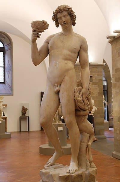 Baküs, 1496 – 97, Mermer, 203 cm, Museo Nazionale del Bargello, Floransa