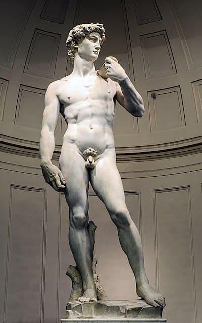 Davud, 1501 – 04, Mermer, 4, 34 x 5, 17 m (kaidesiyle birlikte) Galleria dell'Accademia, Floransa