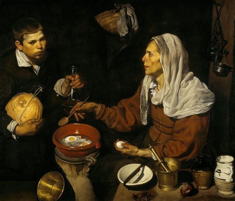 Diego Velazquez yumurta pişiren yaşlı kadın