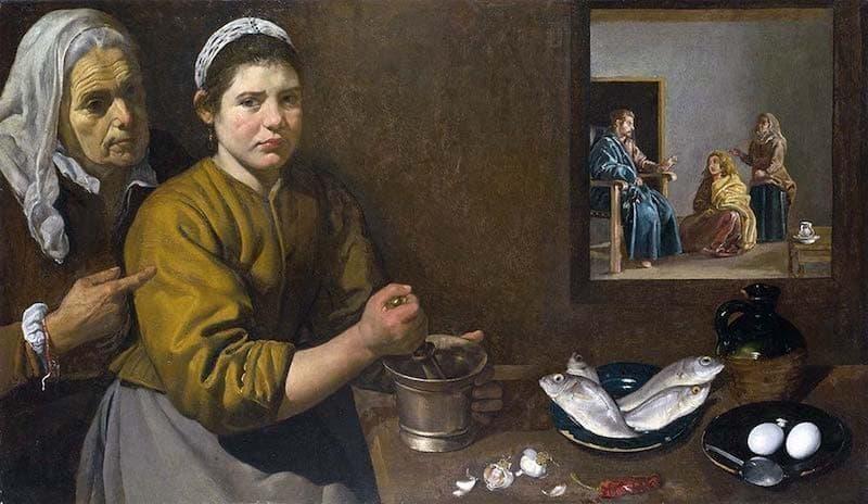 Diego Velazquez Martha ve Meryem'in Evinde İsa