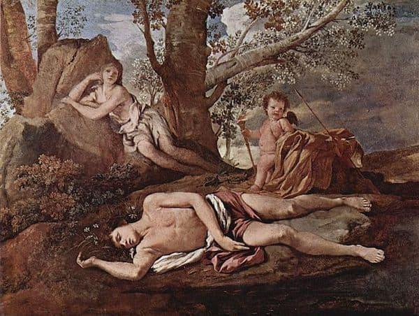 Eco e Narcissus (Ekho ve Narkissos), Nicolas Poussin, 1629-1630