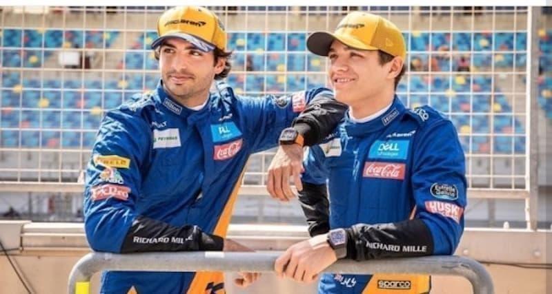 Lando Norris Carlos Sainz 2021 formula 1