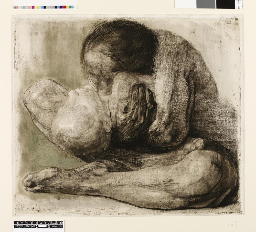 kathe kollwitz ölü çocuğu olan kadın