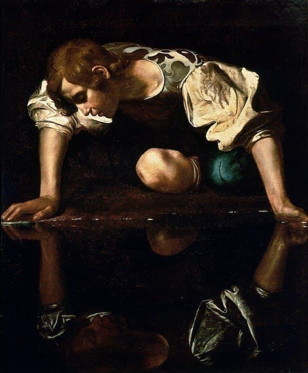 Narcissus (Kendine Aşık Olan Adam), Caravaggio, 1594-1596