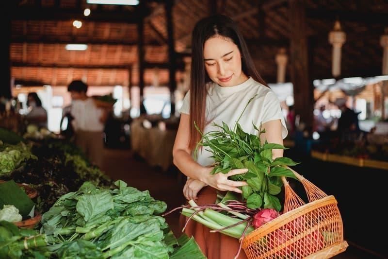 pazar sebze alışveriş