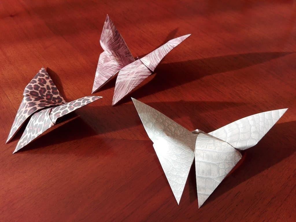 origami kelebekler