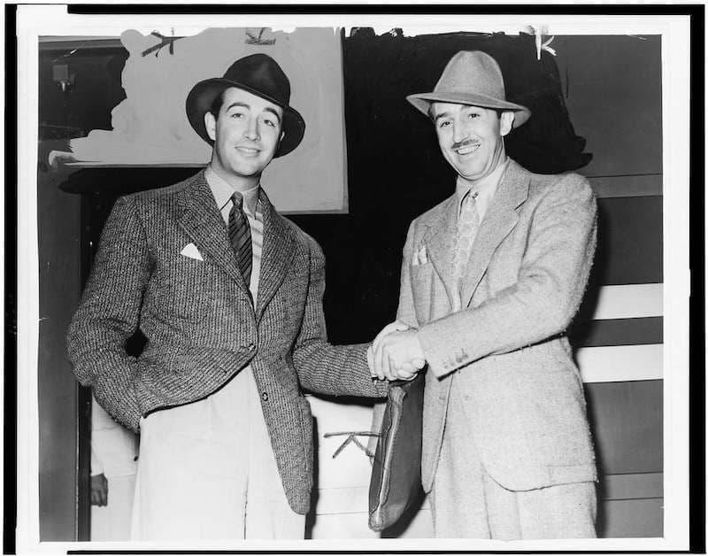 Robert Taylor & Walt Disney
