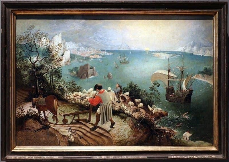 Pieter Bruegel İkarus'un Düşüşü