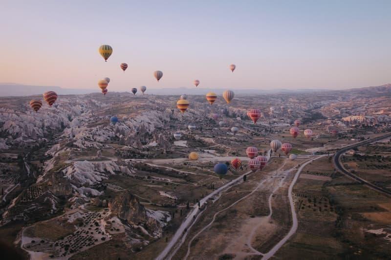 sıcak hava balonları manzara